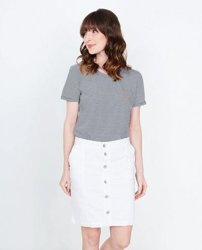 T-shirt à fines rayures
